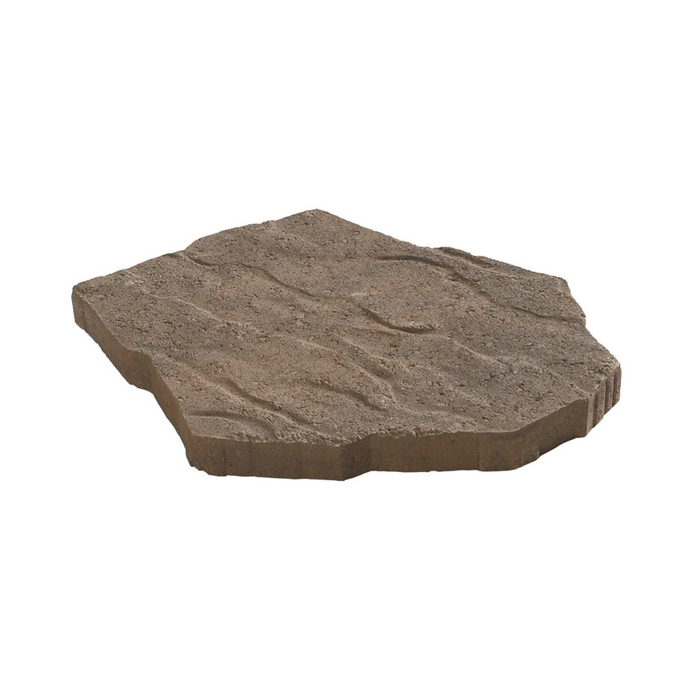 Portage 21 in. x 15.5 in. x 1.75 in. Tan/Brown Irregular Concrete Step Stone (90 Pieces / 134 sq. ft. / Pallet)