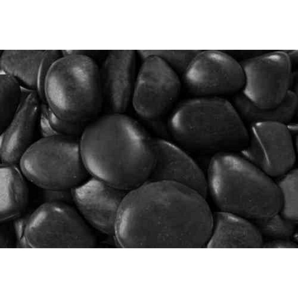 0.25 cu. ft. 2 in. to 3 in. 20 lbs. Black Grade A Polished Pebbles (54-Pack Pallet)